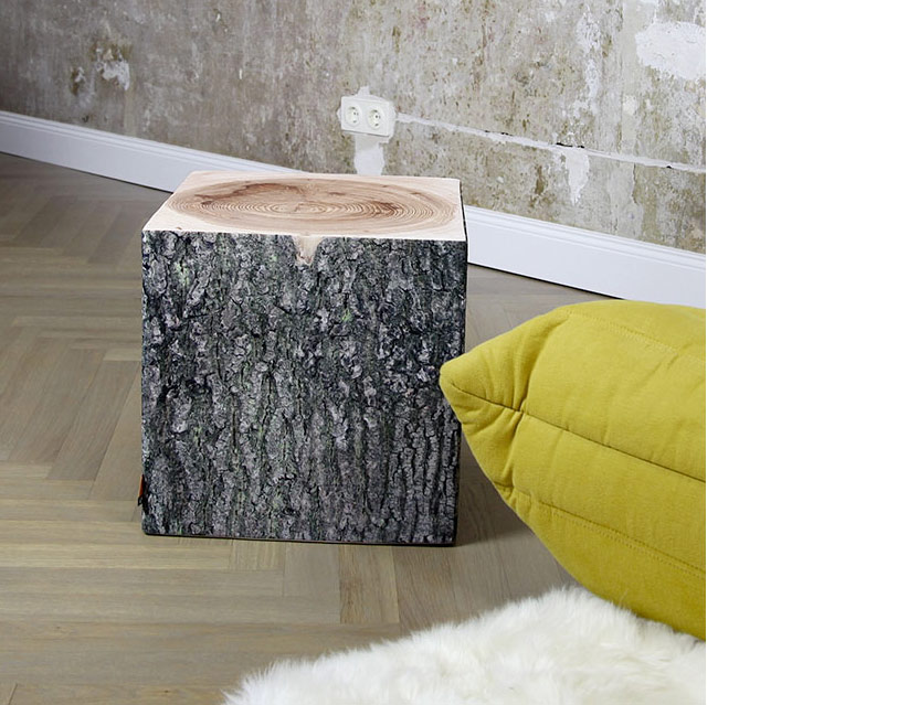 Holzwürfel: ein bequemer Sitzwürfel in Holzoptik für Dein Wohnambiente