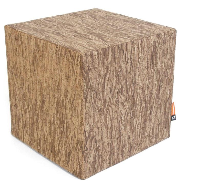 Korkmöbel: ein Sitzwürfel in Kork für Dein Wohnambiente