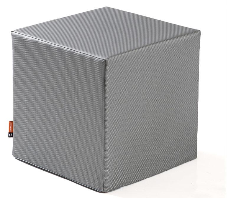 Sitzwürfel in Metalloptik - Metallwürfel